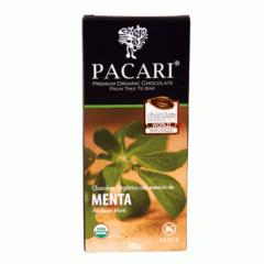 Chocolat organique Menthe Andine