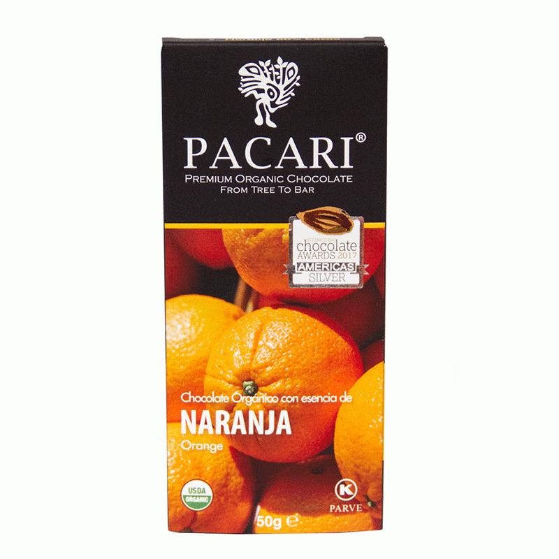 Chocolat organique Orange