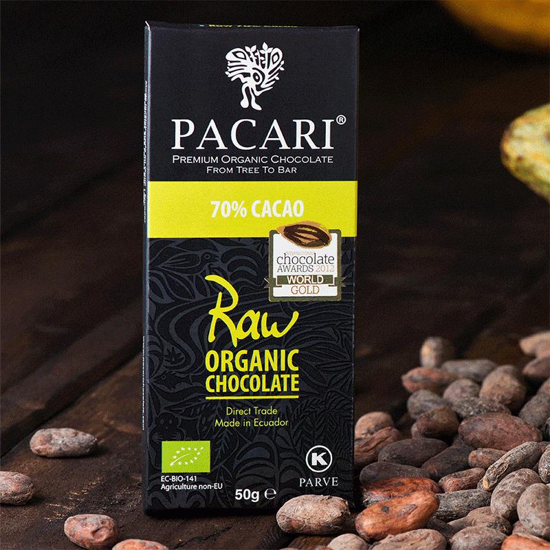 Chocolat organique Raw 70%