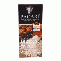 Chocolat organique Sel de Cuzco et éclats de fèves